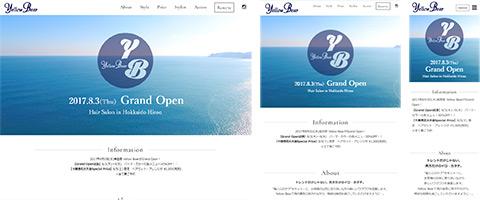 Yellow Bear様 Webサイトイメージ