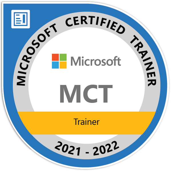 MCT Microsof Certified Trainer2021-2022